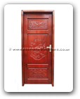 "Rosewood Furniture - fffydorsp -  Door with songhe and peony carved - 32"" x 84"" x 0"""
