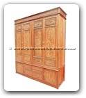 "Chinese Furniture - fffywarc -  Wardrobe full carved - 77"" x 24.5"" x 86.5"""