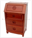 "Chinese Furniture - ffgl24wri -  Writing Desk With 3 Drawers Longlife Design - 24"" x 16"" x 39"""