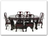 "Rosewood Furniture - ffgt78tab -  Oval dining table grape design tiger legs with 2+4 chairs - 78"" x 46"" x 30"""