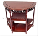 "Chinese Furniture - ffhbstab -  Half moon table f and b design with shelf - 32"" x 16"" x 31"""