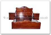 "Rosewood Furniture - ffhfb015 -  Bed ( peony design ) with drawers King - 72"" x 78"" x 0"""