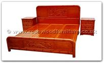 "Oriental Furniture - ffhfb019 -  Bed(bamboo design) King - 72"" x 78"" x 0"""