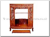 "Oriental Furniture - ffhfb022 -  Rosewood Bed(including the stand) - 66"" x 78"" x 84"""