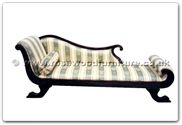 "Chinese Furniture - ffhfb034 -  Rosewood Chaise longue with  fabric covering - 88.6"" x 26"" x 32"""