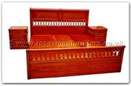 "Rosewood Furniture - ffhfb039 -  Bed (Italian style) with drawers King - 72"" x 78"" x 0"""