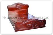"Rosewood Furniture - ffhfb040 -  Bed (flower  and  bird design) with  drawers King - 72"" x 78"" x 0"""