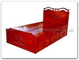 "Oriental Furniture - ffhfb044 -  Bed F  and  D with  drawers Queen - 60"" x 78"" x 0"""