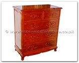 "Oriental Furniture Range - ORffhfc050 -  Rosewood Cabinet With 5 Drawers - 36"" x 19"" x 40"""