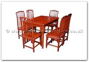 "Rosewood Furniture - ffhfd018 -  Sq Dining Table Ming Design With 6 Side Chairs Table - 50"" x 36"" x 30"""