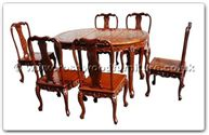 "Rosewood Furniture - ffhfd026 -  Oval Dining Table French Design with 6 chairs - 56"" x 38"" x 30"""
