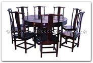 "Rosewood Furniture - ffhfd028 -  Round Corner Dining Table Long life Design (include Lazy Susan) w 8 chairs - 60"" x 60"" x 30"""