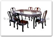 "Rosewood Furniture - ffhfd031 -  Rosewood Dining Table with 6 chairs - 56"" x 38"" x 30"""