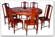 "Rosewood Furniture - ffhfd064 -  Rosewood Dining table with bamboo design with  6 chairs - 56"" x 38"" x 30"""