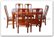 "Rosewood Furniture - ffhfd065 -  Rosewood Round Corner Dining Table F and  D Design with  6 chairs - 56"" x 38"" x 30"""