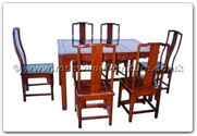"Rosewood Furniture - ffhfd069 -  Rosewood Sq Dining Table Ming Design with  6 chairs - 52"" x 36"" x 30"""