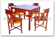 "Chinese Furniture - ffhfd070 -  Rosewood Mah-Jong Table ( Carved with  removable top ) Table only  - 35"" x 35"" x 30"""