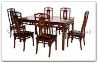 "Rosewood Furniture - ffhfd071 -  Rosewood Sq Dining Table Western Design with  6 chairs - 52"" x 36"" x 30"""