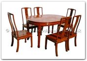 "Rosewood Furniture - ffhfd075 -  Rosewood Oval Dining Table Long life Design with  6 chairs - 56"" x 38"" x 30"""