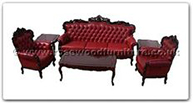"Chinese Furniture - ffhfl001 -  Rosewood Sofa-Leather Cover (6Pcsith Set) Excluding Cushion  - 75"" x 26"" x 42"""