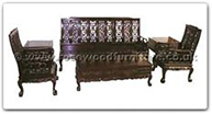 "Rosewood Furniture - ffhfl006 -  Rosewood Living Room Set(6Pcsith Set)Excluding Cushion  - 75"" x 26"" x 42"""