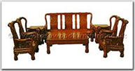 "Rosewood Furniture - ffhfl008 -  Rosewood Sofa Set (8Pcsith Set) Excluding Cushion  - 75"" x 26"" x 42"""