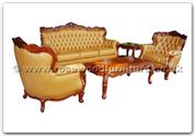 "Rosewood Furniture - ffhfl011 -  Rosewood Living Room Set(5Pcsith Set) - 75"" x 26"" x 42"""