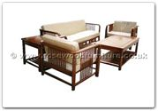 "Rosewood Furniture - ffhfl013 -  Rosewood Living Room Set(5Pcsith Set) - 79.25"" x 30.25"" x 26"""