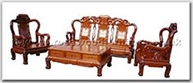 "Chinese Furniture - ffhfl014 -  Rosewood Sofa Set (8 Pcsith Set)Excluding Cushion Couch - 77"" x 25"" x 46.5"""