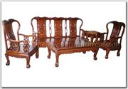 "Oriental Furniture Range - ORffhfl015 -  Rosewood Sofa Set (5 Pcsith Set) Excluding Cushion Couch - 72"" x 23"" x 41"""