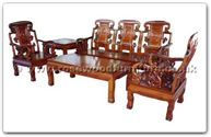 "Rosewood Furniture - ffhfl019 -  Rosewood Sofa Set ( 5Pcsith Set)-Ru-yi Design (Excluding Cushion) Couch - 72"" x 23"" x 42"""