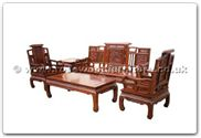 "Rosewood Furniture - ffhfl021 -  Rosewood Sofa Set  (5Pcsith Set)-Qing Style (Excluding Cushion) Couch - 72"" x 23"" x 42"""