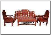 "Chinese Furniture - ffhfl022 -  Rosewood Sofa Set (5Pcsith Set) Excluding Cushion Couch - 72"" x 23"" x 42"""
