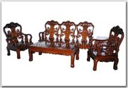 "Rosewood Furniture - ffhfl023 -  Rosewood Sofa Set (5Pcsith Set)Excluding Cushion Couch - 72"" x 22"" x 40"""