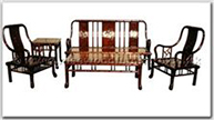 "Chinese Furniture - ffhfl024 -  Rosewood Sofa Set (Bamboo Design) (5Pcsith Set)Excluding Cushion Couch - 70"" x 21.25"" x 38"""