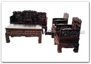 "Rosewood Furniture - ffhfl026 -  Rosewood Sofa Set (9Pcsith Set)Chinese Ancient People(Excluding Cushion) Couch - 74.75"" x 24.75"" x 40.25"""
