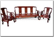 "Chinese Furniture - ffhfl029 -  Rosewood Sofa Set (5 Pcsith Set)-Carved Design and  Tiger Leg  - 66.5"" x 22"" x 35"""