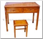 "Rosewood Furniture - ffhfl095 -  Rosewood Desk with F  and  D design (chair Not Include) - 34"" x 19"" x 30"""