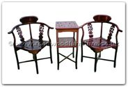 "Chinese Furniture - ffhfl102 -  Rosewood Corner Chair  and  Stand (Excluding Cushion) Chair - 17"" x 17"" x 34"""