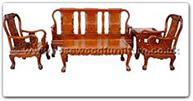 "Oriental Furniture Range - ORffhfl113 -  Rosewood Sofa Set  Excluding Cushion Couch - 72"" x 23"" x 39"""
