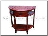 "Rosewood Furniture - ffhfl116 -  Rosewood Semi-Circular Table - 32"" x 16"" x 31"""