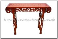 "Chinese Furniture - ffhfl119 -  Rosewood Altar Table with  dragon design - 48"" x 16"" x 33"""