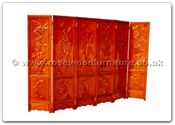 "Chinese Furniture - ffhfl129 -  Rosewood Screen (Four Season Flower) - 18"" x 1.25"" x 72"""