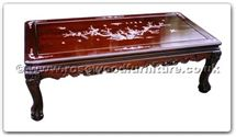"Chinese Furniture - ffhft003 -  Rosewood Coffee Table With M.O.P. - 50"" x 24"" x 18"""