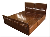 "Rosewood Furniture - ffisdbed -  King size bed italian style with drawers - "" x "" x """