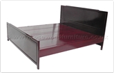 "Oriental Furniture - ffkspbed -  King size bed plain design - "" x "" x """