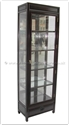 "Chinese Furniture - ffl25glass -  Glass cabinet longlife design with spot light and mirror back - 25"" x 14"" x 78"""