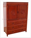 "Oriental Furniture Range - ORffl36chest -  Chest with 3 drawers  and  2 doors longlife design - 36"" x 19"" x 60"""