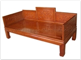 "Rosewood Furniture - fflhbed -  Luo hon bed dragon design - 79"" x 36"" x 35"""