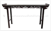 "Chinese Furniture - fflo76hall -  Hall table lotus design - 76"" x 20"" x 42"""